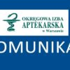 Komunikat Naczelnej Izby Aptekarskiej z 12 marca 2018 r. w sprawieRozporządzenia MZ w sprawie ciągłych szkoleń farmaceutów…